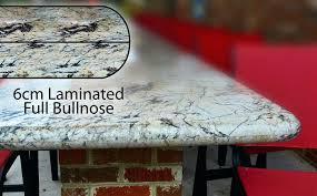 edge profile laminated full bullnose granite countertop half