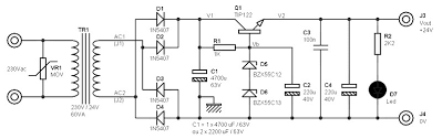 24v 2a dc power supply power supply circuits charging 2 12v batteries in series at Dual 12v 24v Wiring Diagram