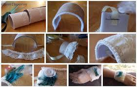 diy toilet paper roll lace bracelet diy projects