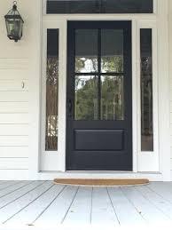 farmhouse front door clic 4 pane door painted black front door light gray a painted porch floor
