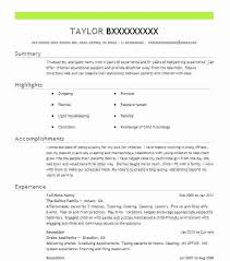 Nanny Resume Examples Templates Example Of A Simple Resumes Or