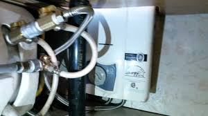 review excel propane instant hot water heater in an rv or motorhome vent free lp under sink you