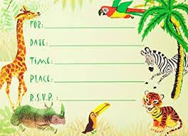 Safari Party Invitations Amazon Com Dolce Mia Jungle Animals Safari Birthday Party