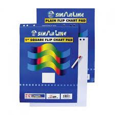 Flip Chart Pad Sinarline Flip Chart Pad 25 Sheets Plain