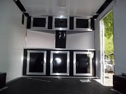 Cabinets For Cargo Trailers Base And Overhead Cabinets Inside Enclosed Trailer 85 X 16 With V