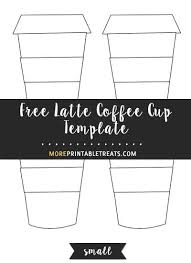 Small Card Template Free Latte Coffee Cup Template Small Coffee Teacup Cards
