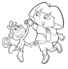 print dora coloring pages printable and friends