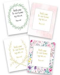 Free Printable Welcome Cards Free Guest Wifi Printables Welcome Your Guests In Style