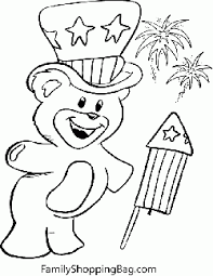 Small Picture Color Page Teddy 4th of July Coloring Pages Free Printable