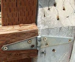 the gate hinge needs to be heavy enough to support the gate try to find