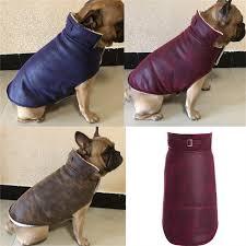 leather dog coat jacket pug clothes french bulldog clothing schnauzer pet costume winter dog clothes vest