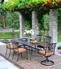 high end patio furniture appealing dining set luxury cast aluminum brands top outdoor bistro