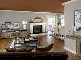 Amazing Open Space Brown Grey Color Combination Home Interior