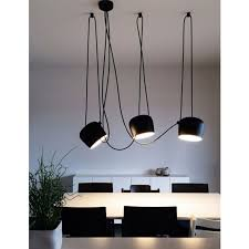 flos aim x 3 light points led suspension pendant lamp black f0090030 f0093030