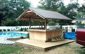 outdoor bar sets stools gazebo patio set weather furniture l shaped backyard tiki for pool