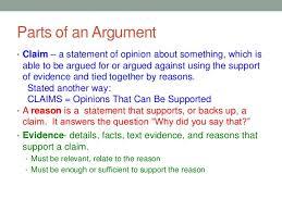 Parts Of A Essay Parts Of An Argumentative Essay Ppt