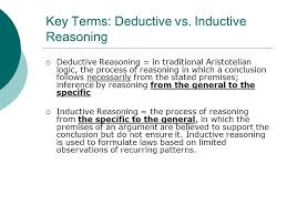 key terms deductive vs inductive reasoning ppt video online  inductive reasoning