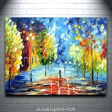 acrylic paint palette colorful palette knife oil painting on canvas modern flower painting with acrylic paint on canvas