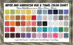 abyss habidecor rug towel color chart from closetfulloflinens com