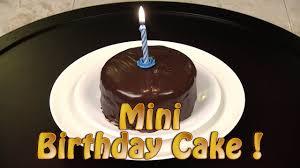 How To Make A Mini Chocolate Birthday Cake Youtube