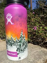 Hydro Flask Designs Sunset Love Hydroflask Water Bottle Art Hydro Painting