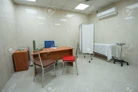 Doctor Consultation Room Design Doctors Consultation Room With Desk And Bed In Medical Center