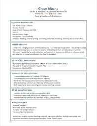 Resume Template Format For Freshers Teachers Job With 93