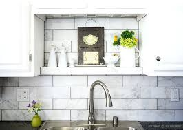 subway tile in kitchen backsplash large white subway marble kitchen tile with black and white cabinets