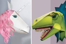 6 99 instead of 9 40 from clockwork solr for build your own cardboard wall mount choose either a t rex or unicorn and save 26