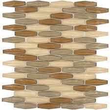 warm canyon bronze glossy glass tile