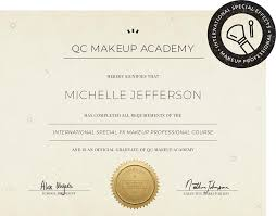 qc s professional makeup certification upon graduation you will receive your international special fx