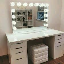 ikea alex drawers vanity we could stare into this gorgeous all day featured with frosted led lights table top drawers ikea alex drawer makeup vanity