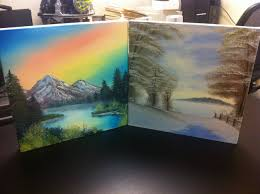 i painted along with a couple episodes of bob ross the joy of painting it s as fun as i d always imagined