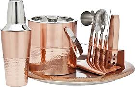 Godinger 9 Piece Barware Set, Copper: Kitchen ... - Amazon.com