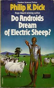 do androids dream of electric sheep by philip k dick this is the cover of my old copy of this book love it