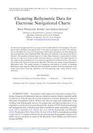 Pdf Clustering Bathymetric Data For Electronic Navigational