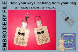 Dog Key Fob Embroidery Designs Ith Cool Fluffy Dog Key Fob Embroidery Design