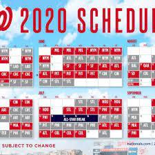 Washington Nationals' 2020 schedule ...