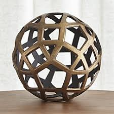 Decorative Metal Balls Geo Decorative Metal Balls Crate and Barrel 3