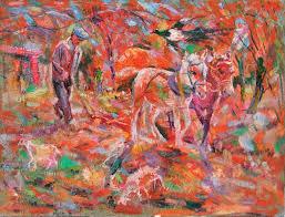 painting by dapu zhang ai min leona craig art