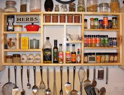 Wall Mounted Kitchen Rack Spice Rack Ideas For The Kitchen And Pantry Buungicom Wall Spice