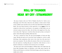 roll of thunder hear my cry strawberry gcse english marked  document image preview
