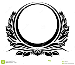 Black vintage frame design Background Black Vintage Circle Frame With Ribbon For Design Dreamstimecom Blck Vintage Circle Frame Stock Vector Illustration Of Black 13567943