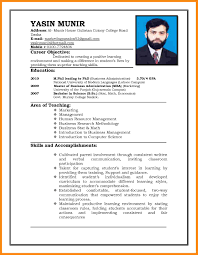 Sample Of Resume For Job Application Resume For Study