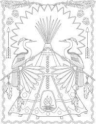 Creative Haven Native American Designs Coloring Book 5 Sample