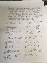 exponential radical equations review sheet due 04 07 solutions please note the final answer for 7 is positive and the extraneous solution in 16