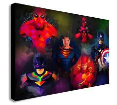 dc marvel comics super hero geometric