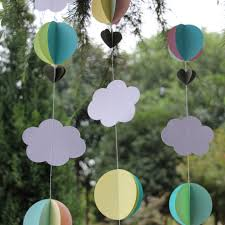 pastel clouds hot air balloons garland baby shower photo prop birthday party decor in party backdrops from home garden on aliexpress com alibaba group