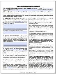 Free Delaware Standard Residential Lease Agreement | Pdf | Word (.doc)