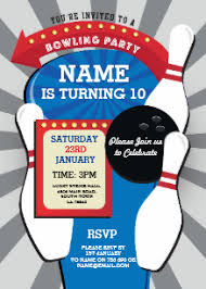 Bowling Party Invitation Bowling Party Invitations Zazzle